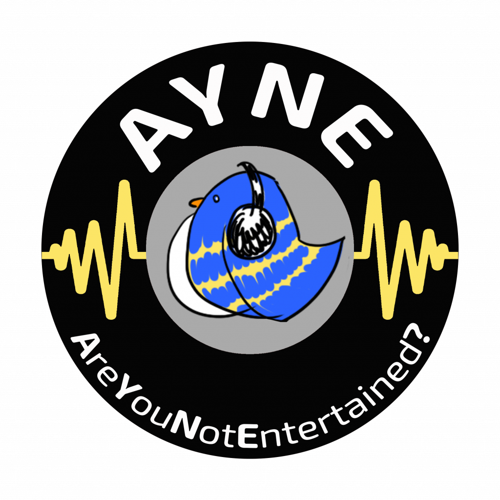 AYNE black-blu logo